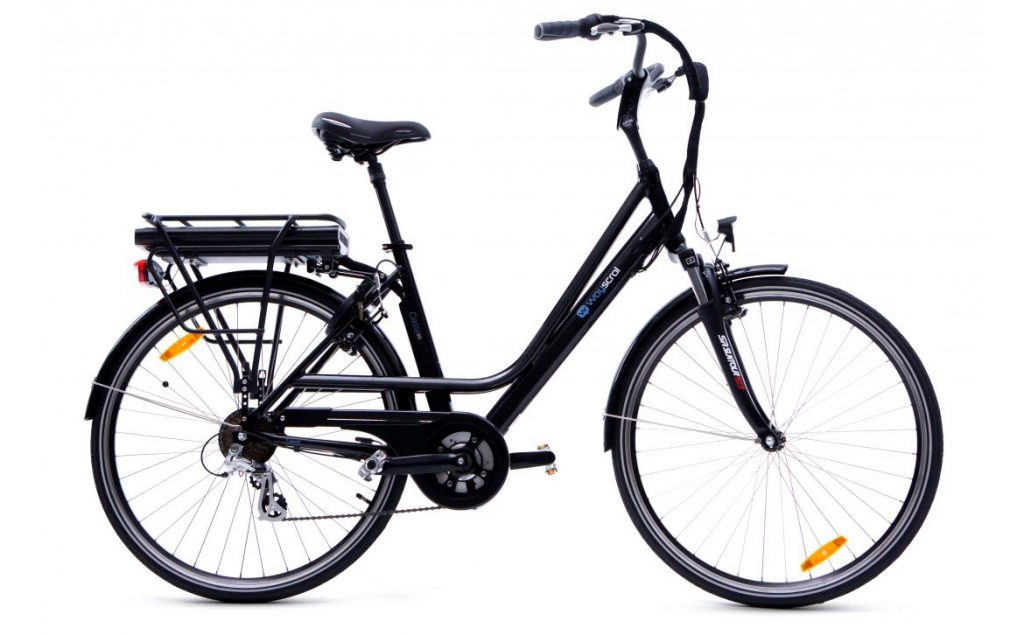 Bicicleta eléctrica wayscral Classy 615 36 V, negro